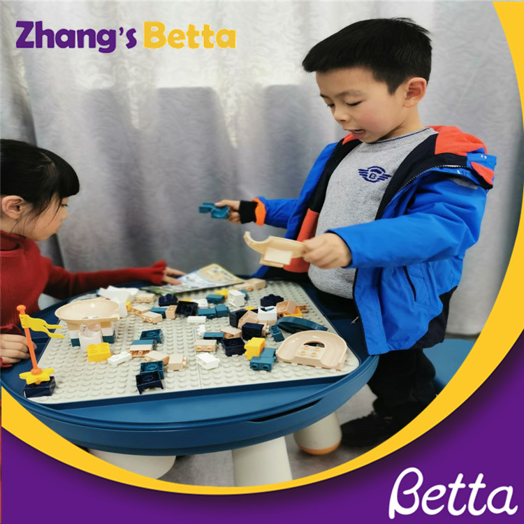 Top sale Children's Block Toys Baby Building Blocks Table