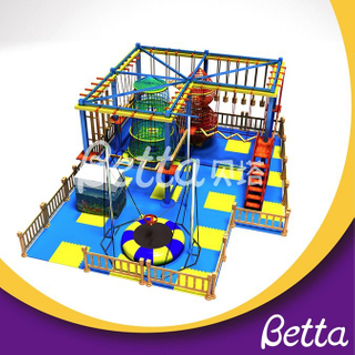 Bettaplay Kindergarten children play rope course with trampoline