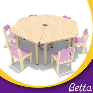 Attractive and popular sale kids wood table and chair