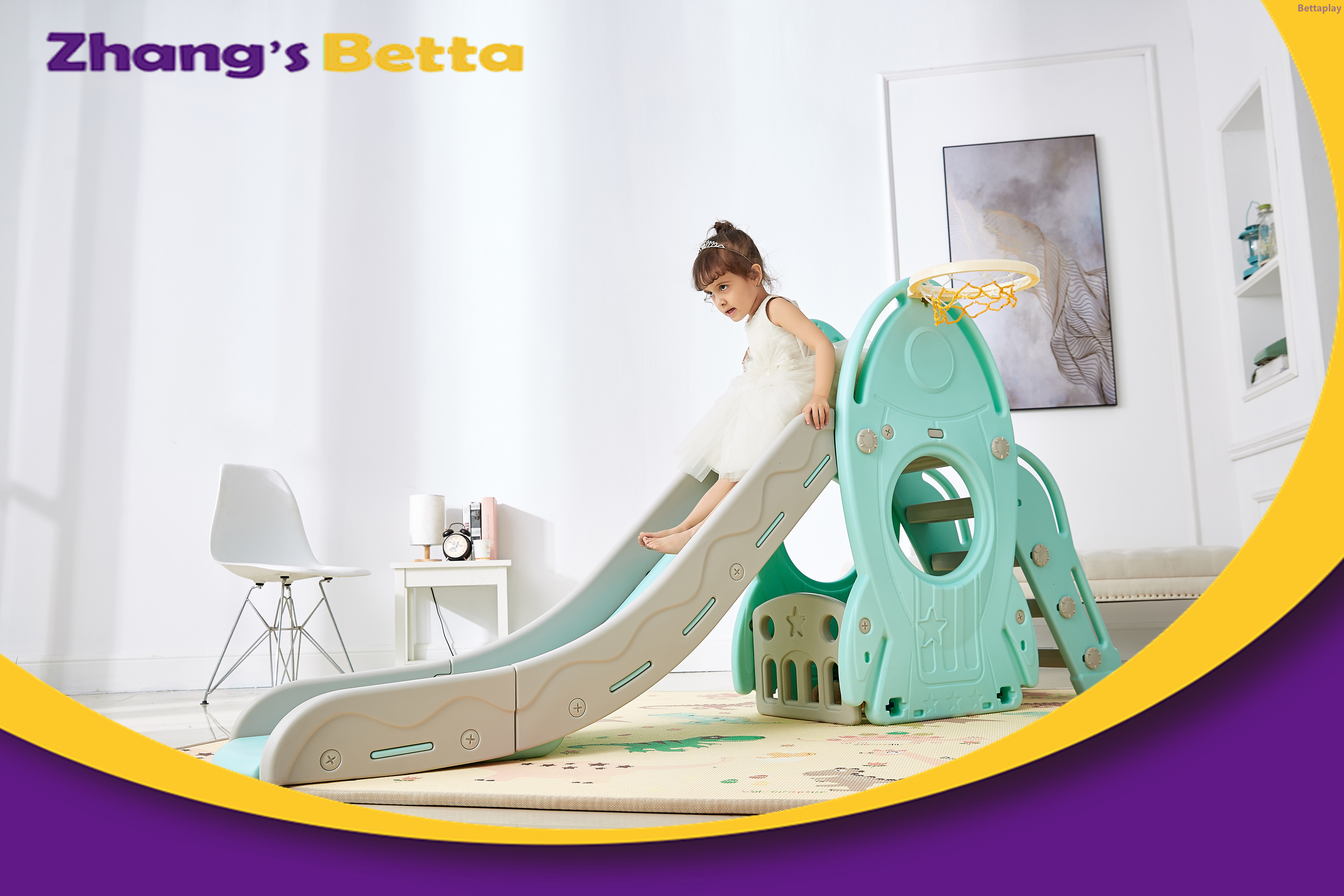 Top Sales Pastel Home Stay New Design Best Quality & Plastic Children Slide with Hoop Outdoor Playground Equipment For Own Use