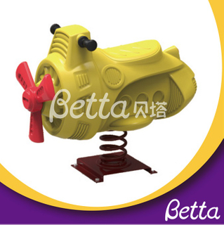 Bettaplay New design cartoon aircraft children spring rider