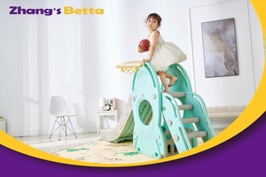 Pastel & Plastic Children Slide Best Quality Home Stay New DesignModest Style with Hoop Outdoor Playground Equipment Own Use