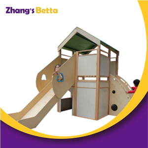 Kids Small Outdoor Cheap Playhouse Wooden With Slide