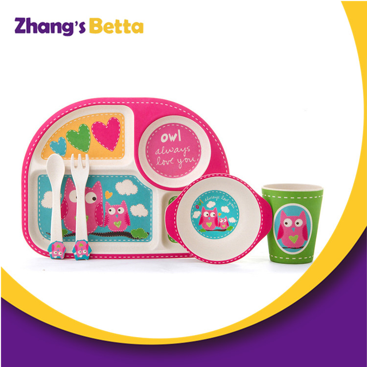 Hot Sell Eco-friendly Bamboo Dinnerware Sets for Toddler