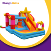 Inflatable Rainbow Jumping Bouncy Castle Water Slide with Pool