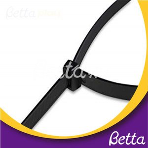 Bettaplay Cheap Self Locking Plastic Silicone Cable Tie for Indoor Playground