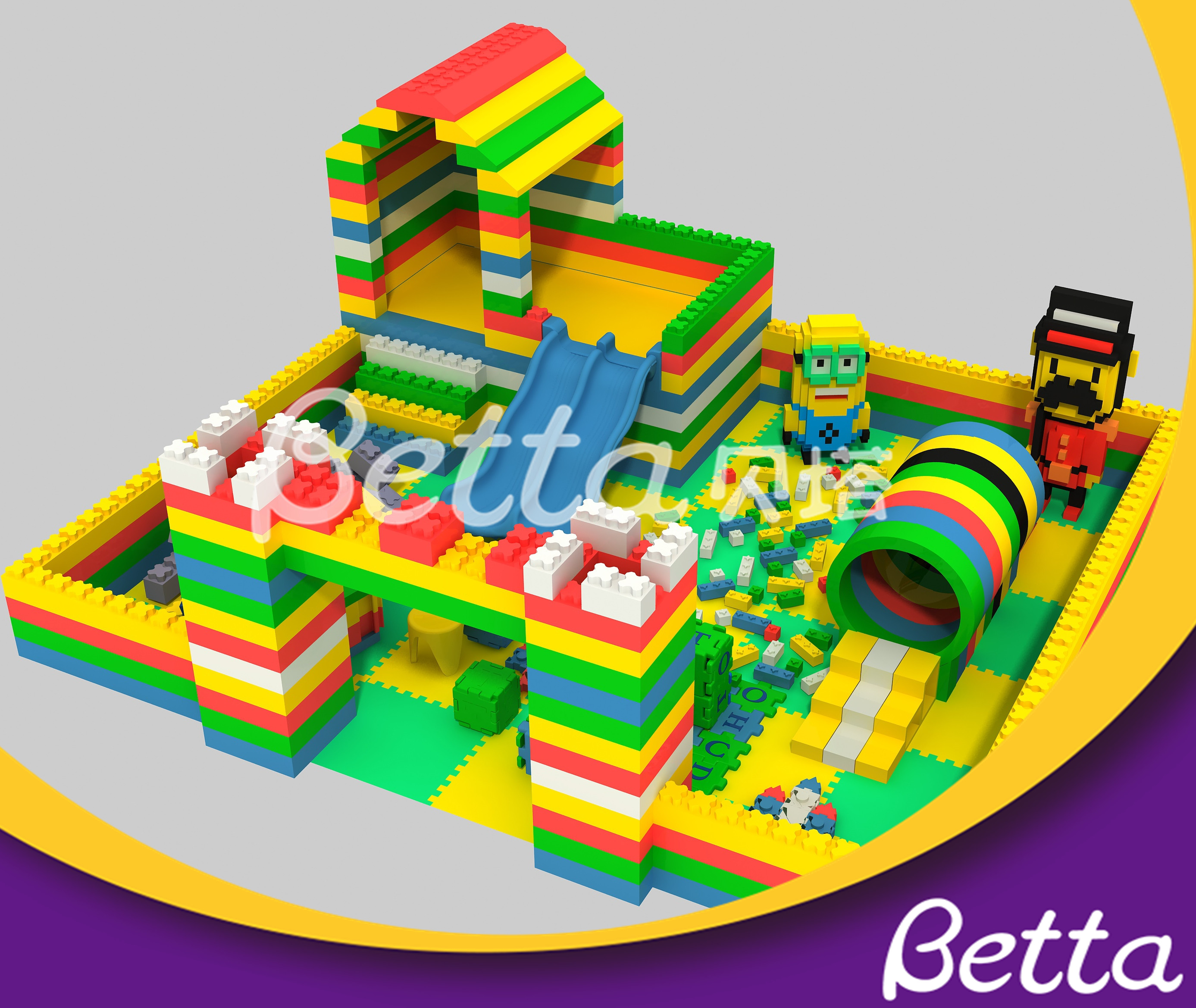 DIY Epp Foam Block Building Educational Toy for Kids Indoor Playground