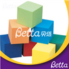 Bettaplay cube foams cover and foam cube for indoor playground