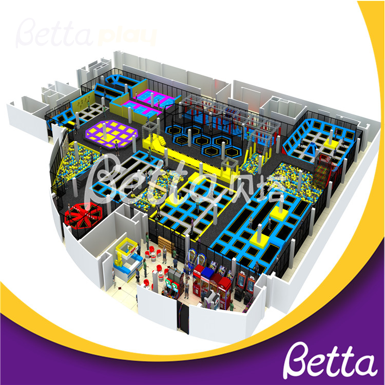 Bettaplay New Design Trampolines Professional Park for Indoor Playground