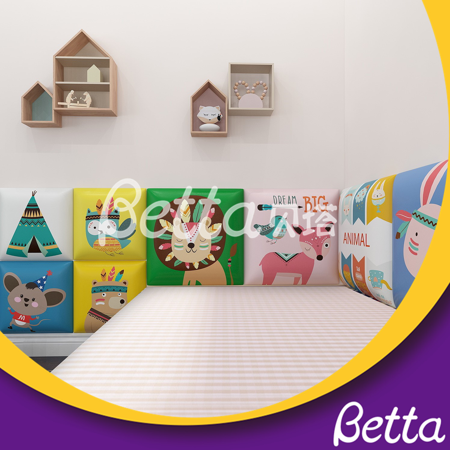 2019 Newest Soft Wall Customized Colorful Wall Soft Play for Indoor Playground
