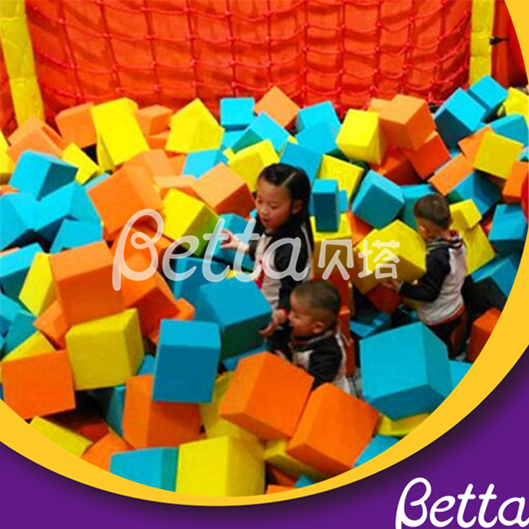 High Resilience Foam Cube For Build Indoor Trampoline Location Durable Indoor Ball Pits Trampolines With Foam Pit For Sale