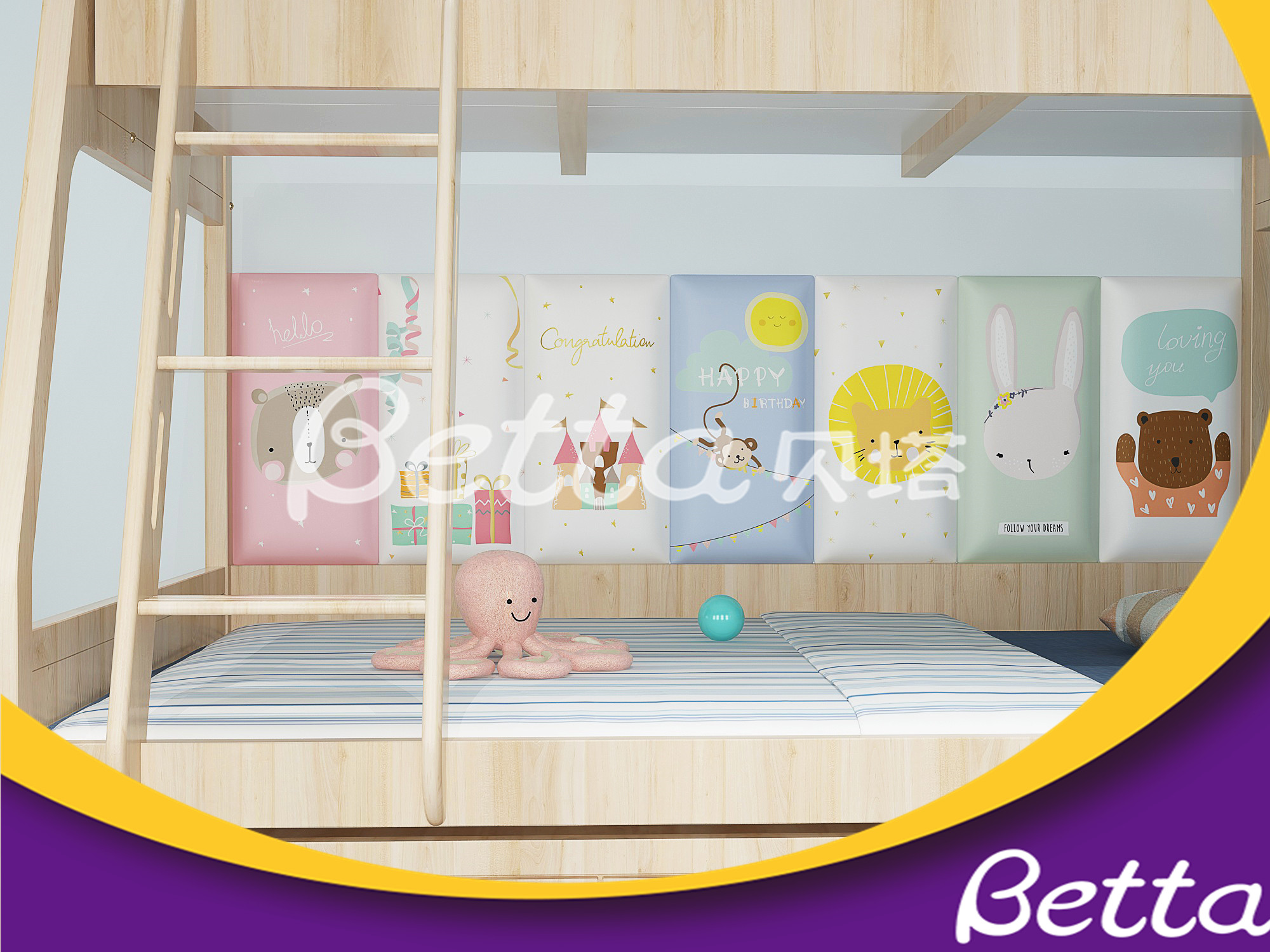 BETTA Indoor Playground Safety Soft Wall Bumper Decoration for Kindergarten