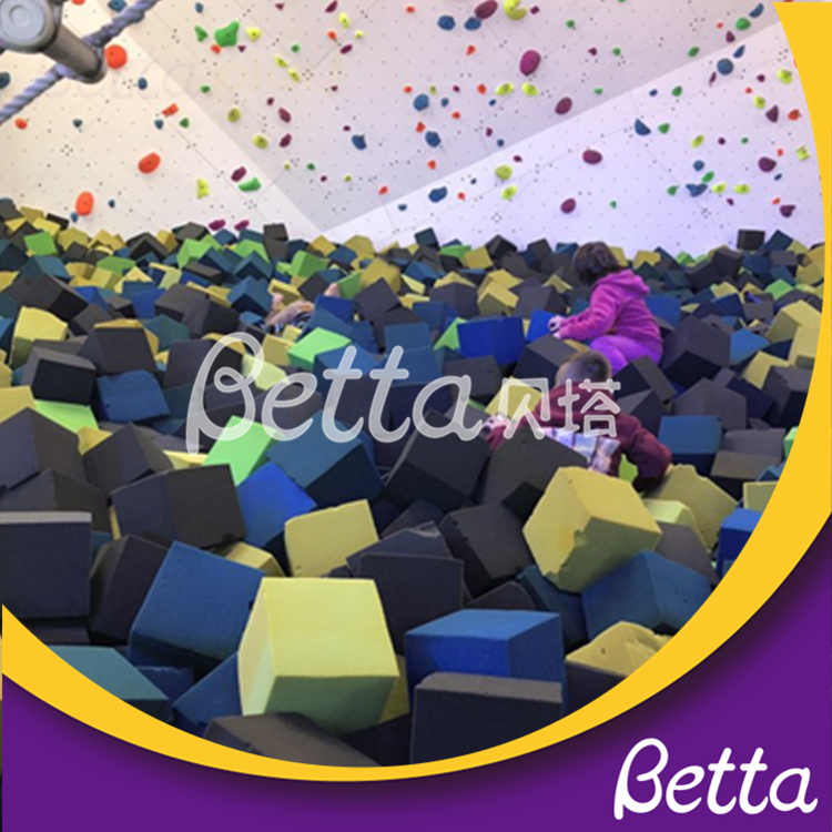 Bettaplay foam cube cover and foam cube for foam pit in indoor playground